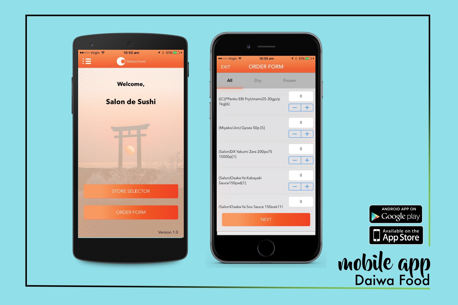 Daiwa Food Mobile App